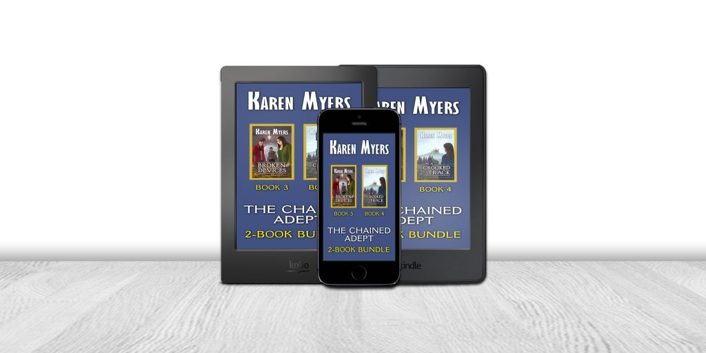Display of available formats for The Hounds of Annwn (1-5), a book bundle of To Carry the Horn, The Ways of Winter, King of the May, Bound into the Blood, and Tales of Annwn. Written by Karen Myers (HollowLands.com). Published by Perkunas Press (PerkunasPress.com).